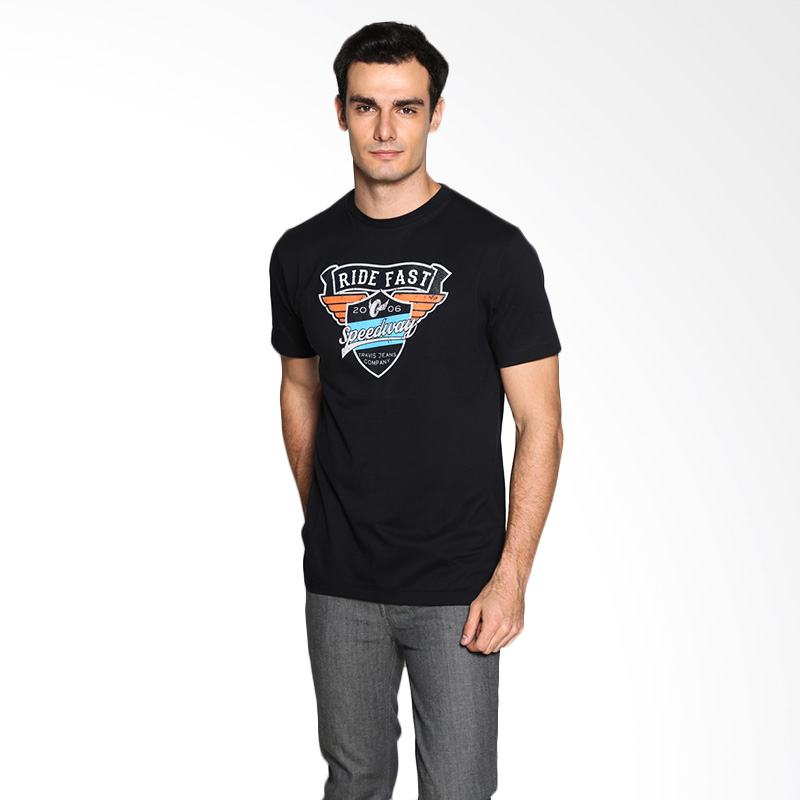 Travis Jeans Speedway TRV13M00046 T-Shirt - Black Extra diskon 7% setiap hari Citibank – lebih hemat 10% Extra diskon 5% setiap hari