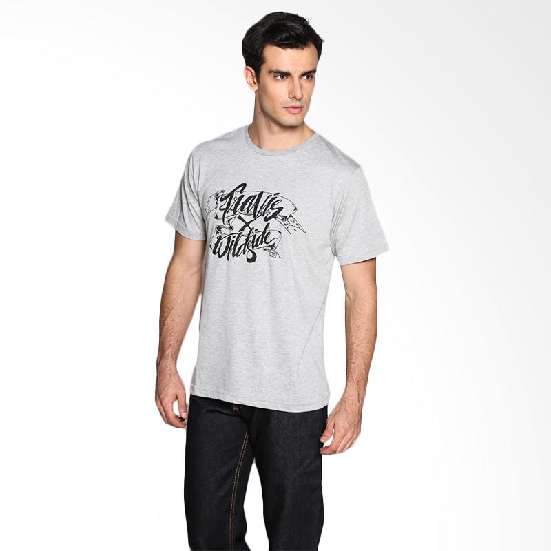 Travis Jeans Wxt Typography TRV13M00039 T-Shirt - Misty Gray Extra diskon 7% setiap hari Extra diskon 5% setiap hari