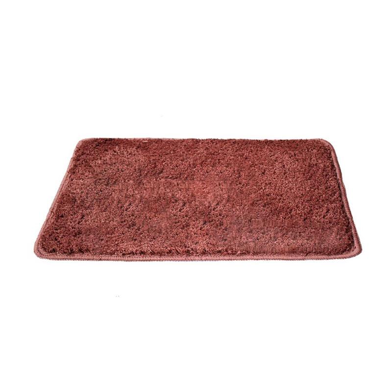 Tren-D-Rugs Polyester Microfiber Keset Kaki - Merah Bata [40 x 60 cm]