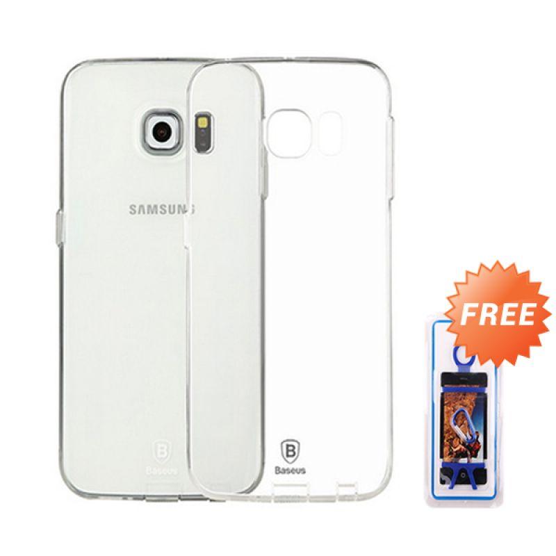 Baseus Sky Transparan Casing for Galaxy S6 + Rubber Bikini Phone