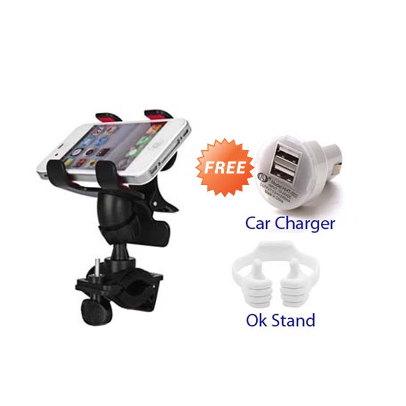 Bazel Hitam Holder Bicycle + Car Charger + OK Stand ...