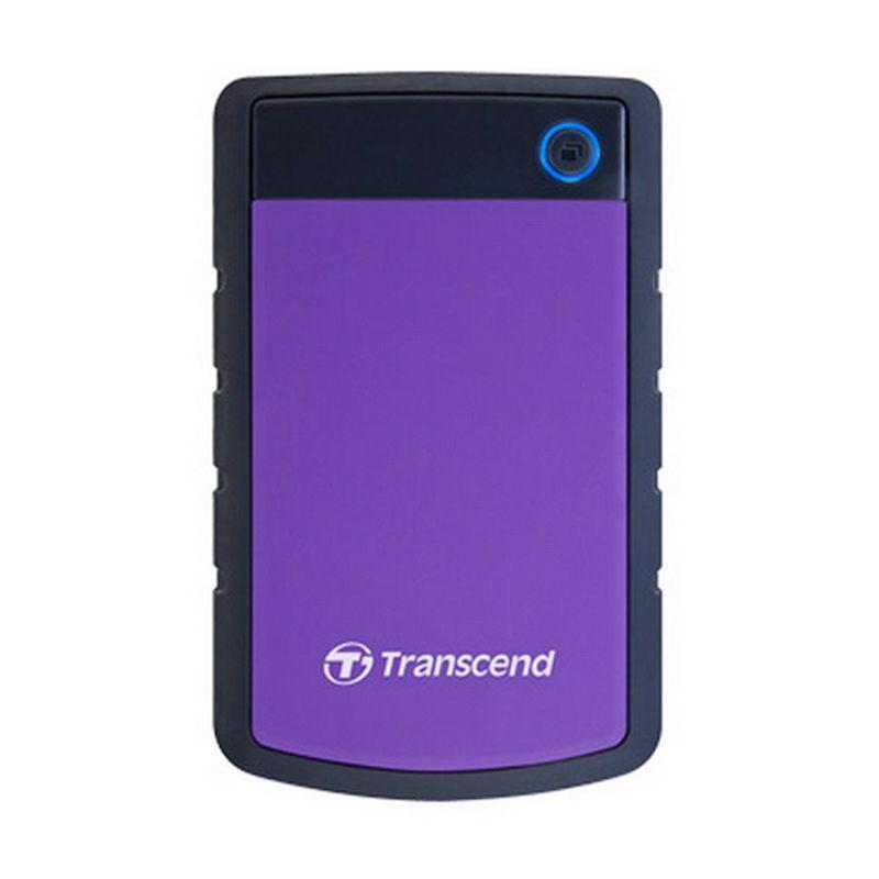 Transcend Antishock StoreJet 25H3P 1 TB Ungu Hard Disk Eksternal