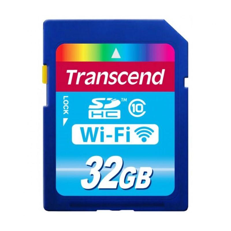 Transcend SD Card 32 GB Biru Memory Card [Wi-Fi]