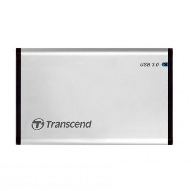 Transcend Casing Store Jet 25S3 Silver Portable USB [USB 3.0]