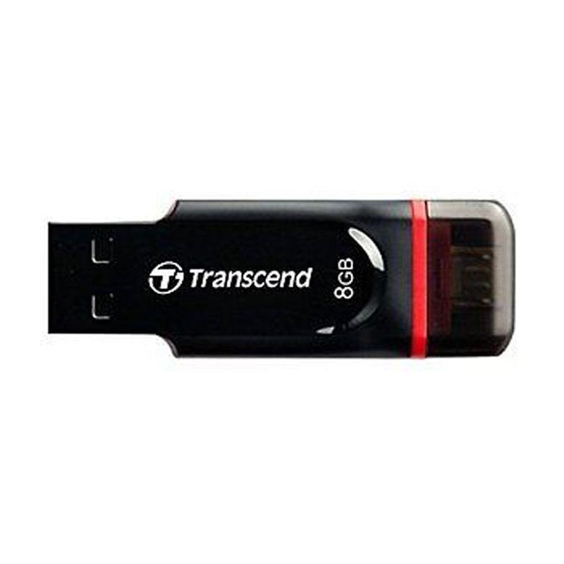 Transcend JetFlash 340 Hitam OTG [8 GB]