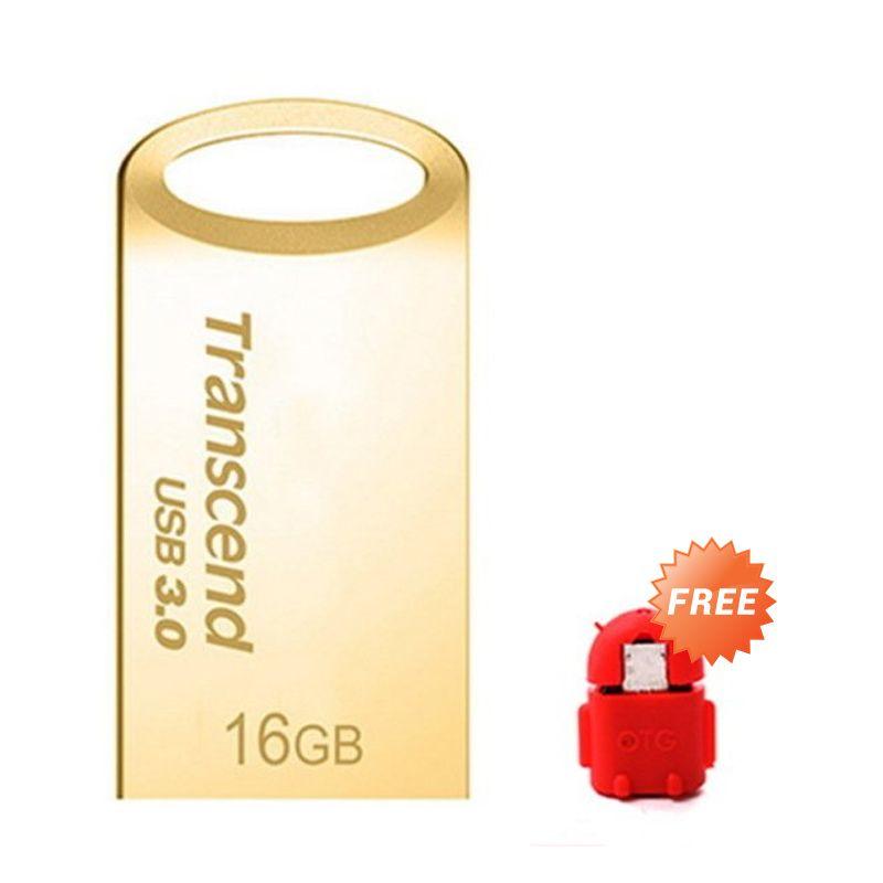 Transcend JF710 32 GB Gold Flashdisk + OTG