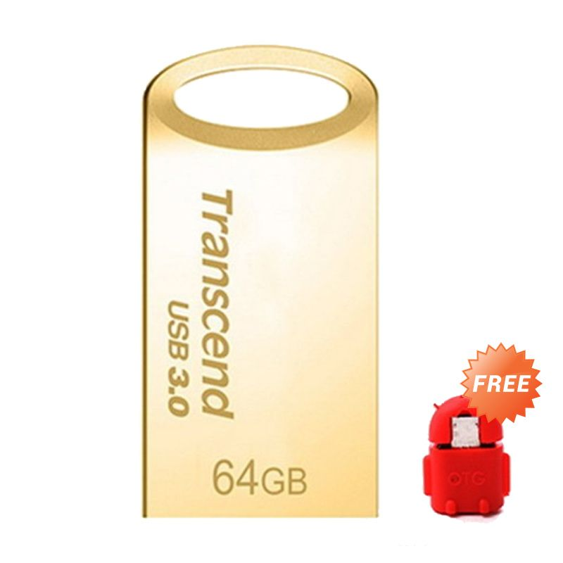Transcend SuperSpeed JF710 Gold Flashdisk [64 GB] + OTG