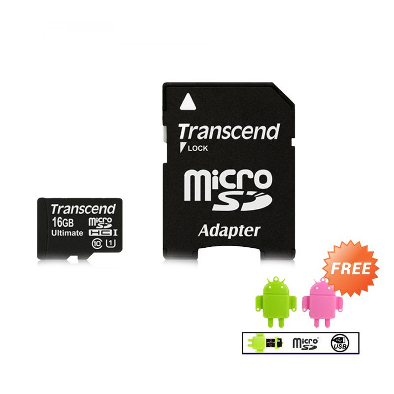 Transcend Ultimate 10 UHS-1 600x [16 GB] Memory Card + Reader MicroSD