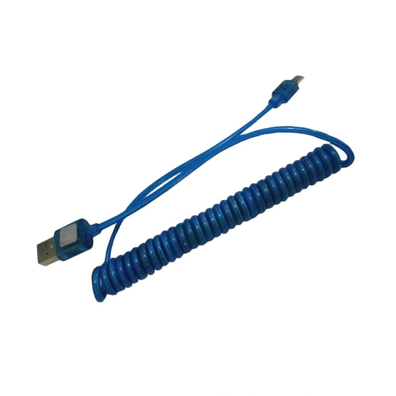 Trend's Spiral Micro Biru USB Data Cable
