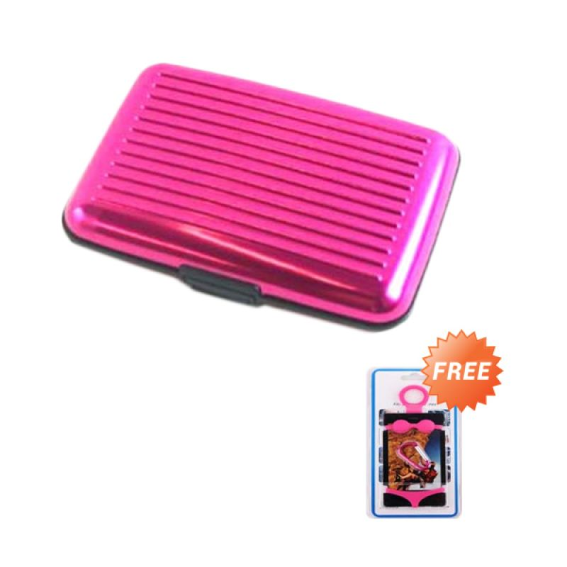 Trend's Walet Security Merah Muda Credit Card Holder + Rubber Bikini