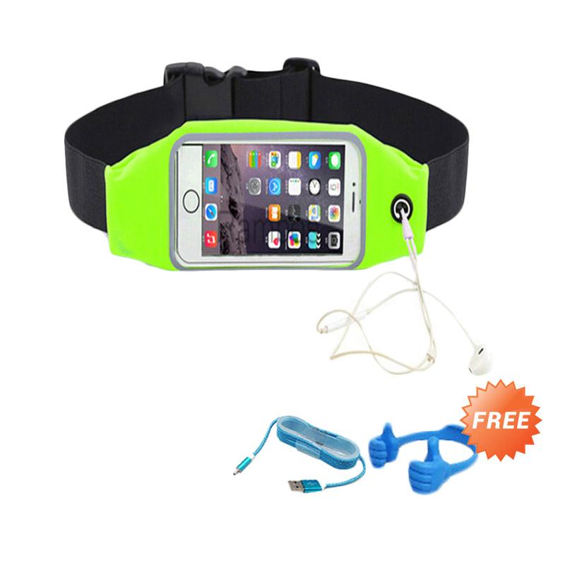 harga Trend's Tas Sports Running Gym Waist Belt Bag Case [Size XL] - Hijau + Gratis Ok Stand + Kabel micro Usb Tali Warna Blibli.com