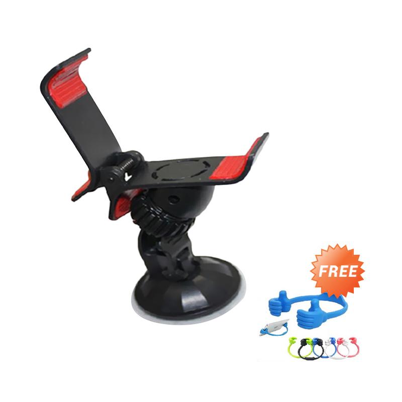 Trend's Universal XT028 Hitam Car Holder + OK Stand