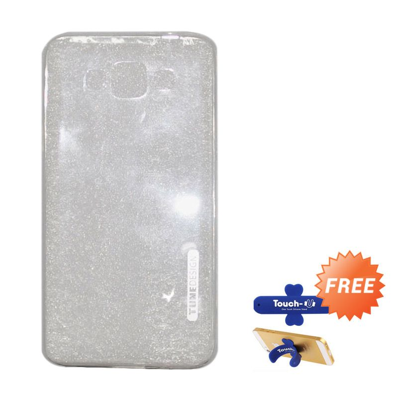 Tunedesign Lite Air Clear Casing for Samsung Galaxy Grand Max + Touch U Stand