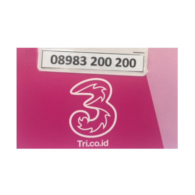 harga Tri Kartu SIM Perdana [08983 200 200] Blibli.com