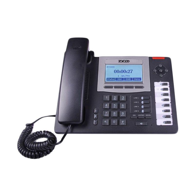 Zycoo CooFone-D60P IP Hitam Telepon