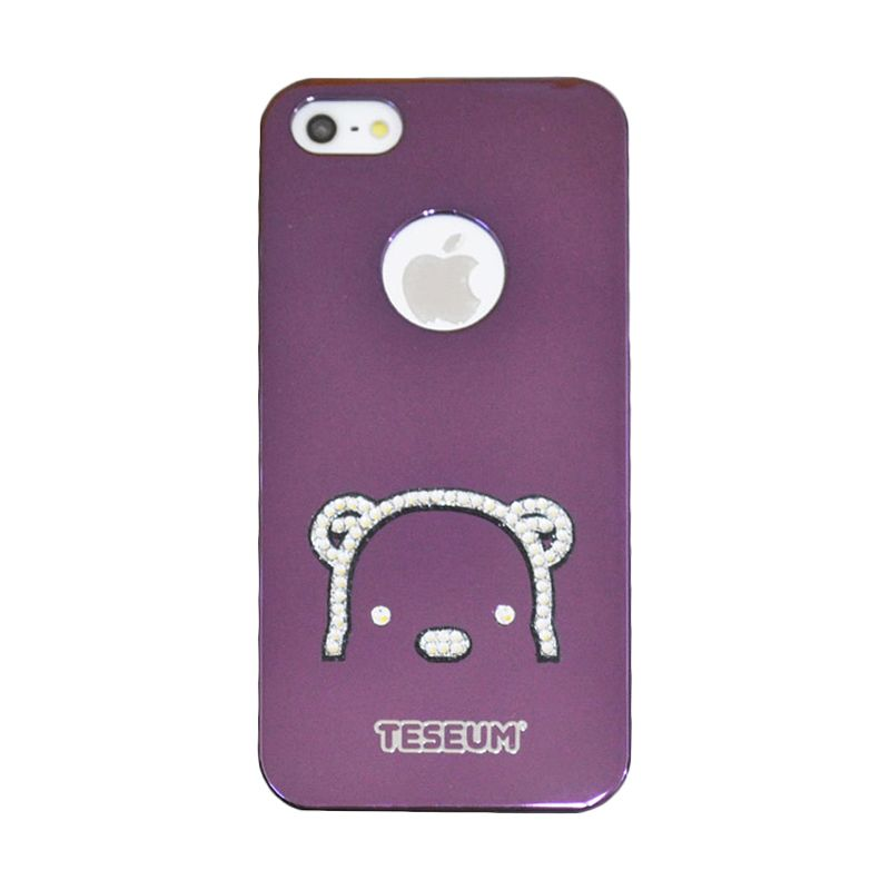 Dreamplus Taseum Teddy Bear Ungu Casing for iPhone 5