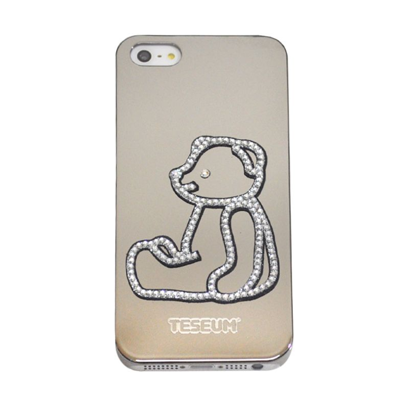Dreamplus Taseum Teddy Bear Walk Silver Casing for iPhone 5