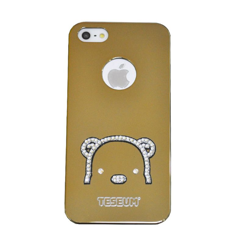 Dreamplus Taseum Teddy Bear Gold Casing for Iphone 5