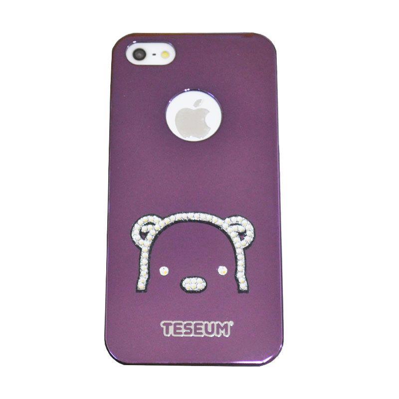 Dreamplus Teseum Teddy Bear Purple Casing for Iphone 5