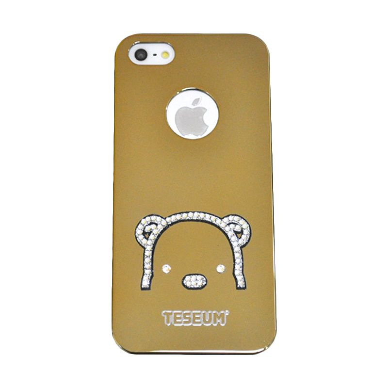 Dreamplus Teseum Teddy Bear Head Gold Casing for iPhone 5