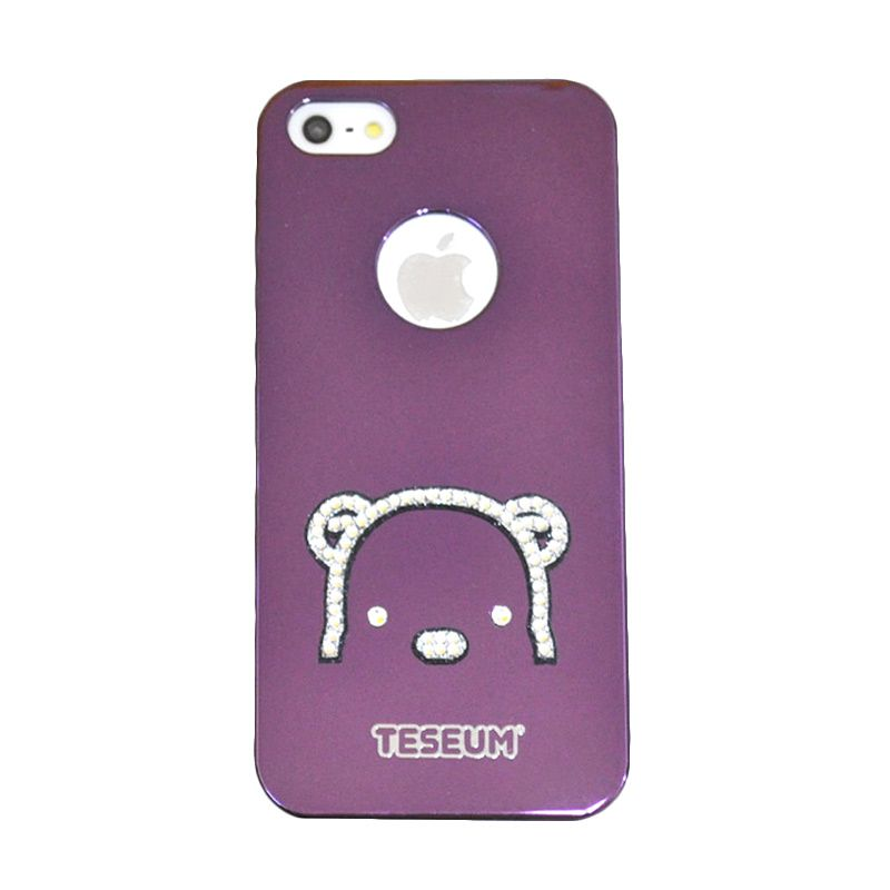 Dreamplus Teseum Teddy Bear Head Purple Casing for iPhone 5