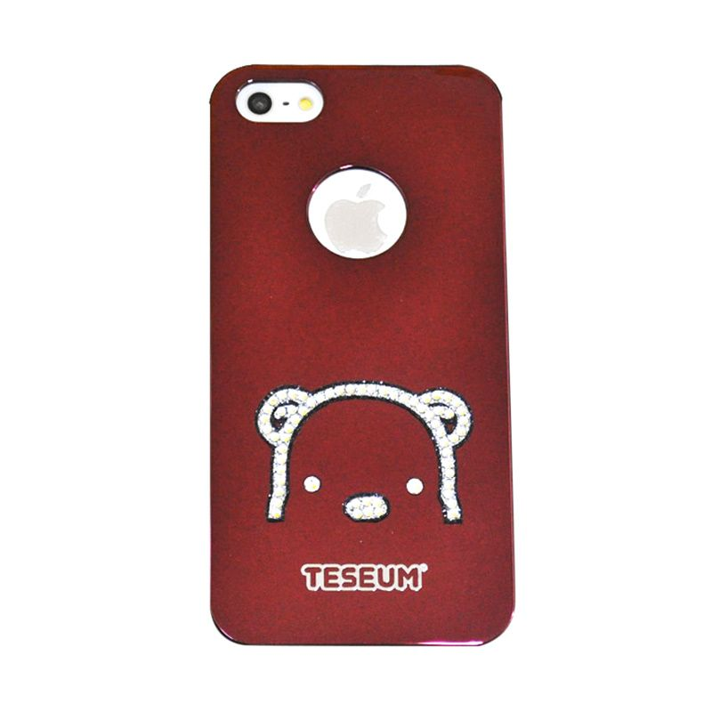 Dreamplus Teseum Teddy Bear Head Red Casing for iPhone 5