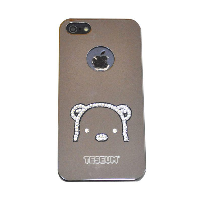 Dreamplus Teseum Teddy Bear Head Silver Casing for iPhone 5