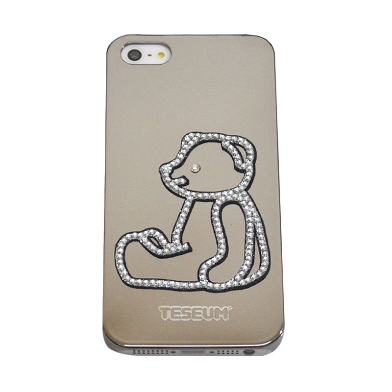 Dreamplus Teseum Teddy Bear Sit Silver Casing for iPhone 5