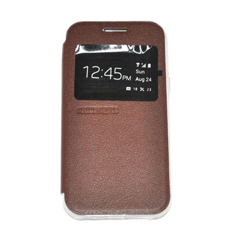 Tunedesign Folioair Brown Casing For Samsung Galaxy J1
