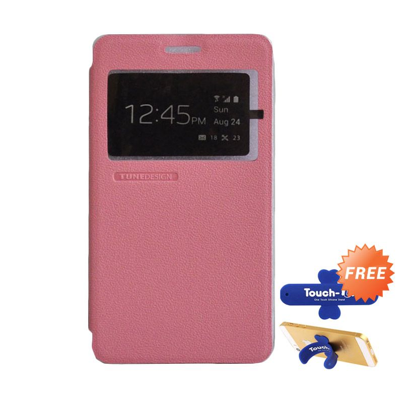 Tunedesign FolioAir Pink Casing for Samsung Galaxy A7 + Touch U Stand