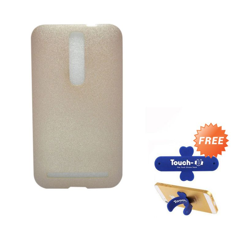 Tunedesign LiteAir Gold Casing For Asus Zenfone 2 5.5 + Touch U Stand