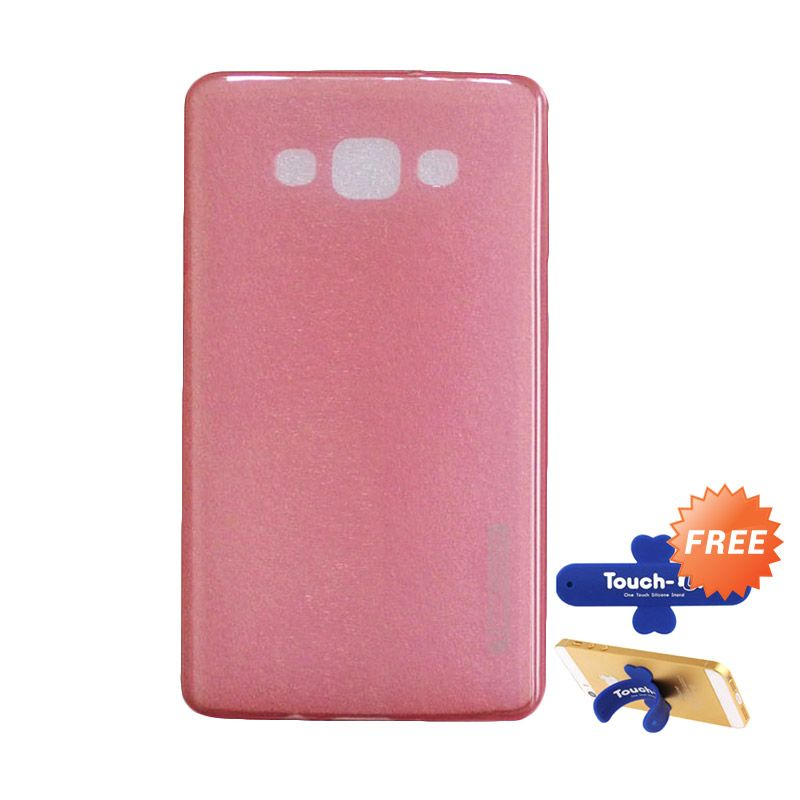 Tunedesign LiteAir Peach Casing for Samsung Galaxy A7 + Touch U Stand