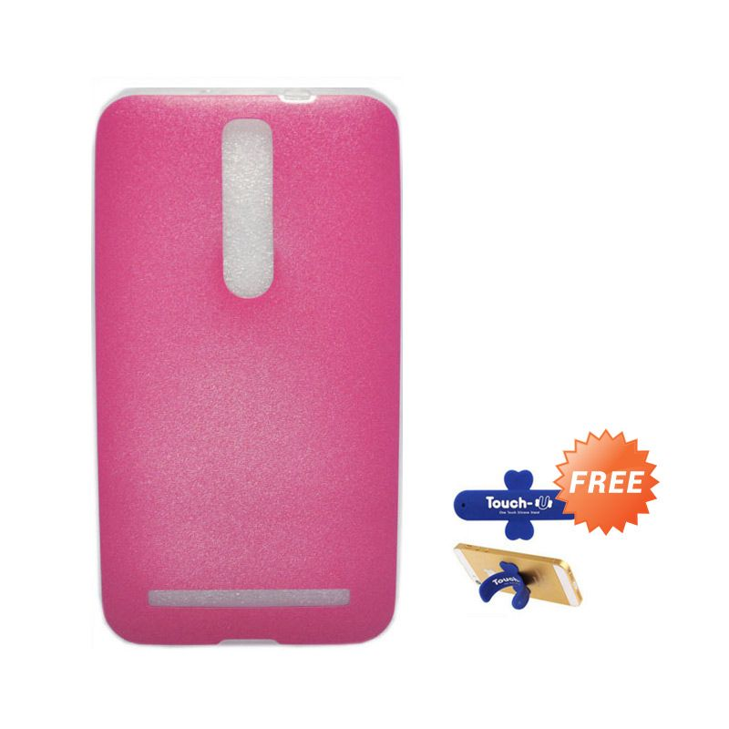 Tunedesign LiteAir Pink Casing For Asus Zenfone 2 5.5 + Touch U Stand