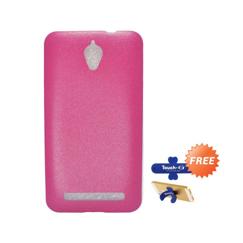Tunedesign LiteAir Pink Casing For Asus Zenfone C + Touch U Stand