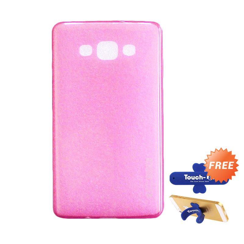Tunedesign LiteAir Pink Casing for Samsung Galaxy A7 + Touch U Stand