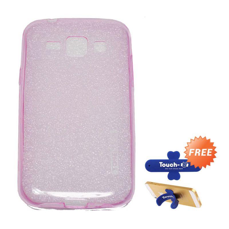 Tunedesign Liteair Pink Casing For Samsung Galaxy J1 + Touch U
