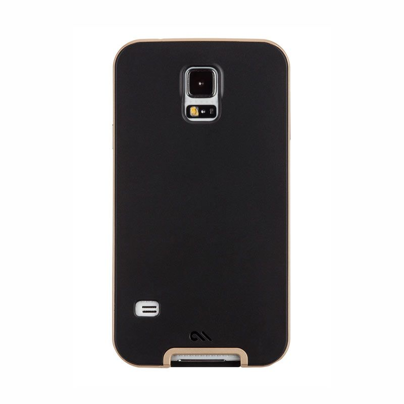 Case Mate Samsung Galaxy S5 Slim Tough Black Gold