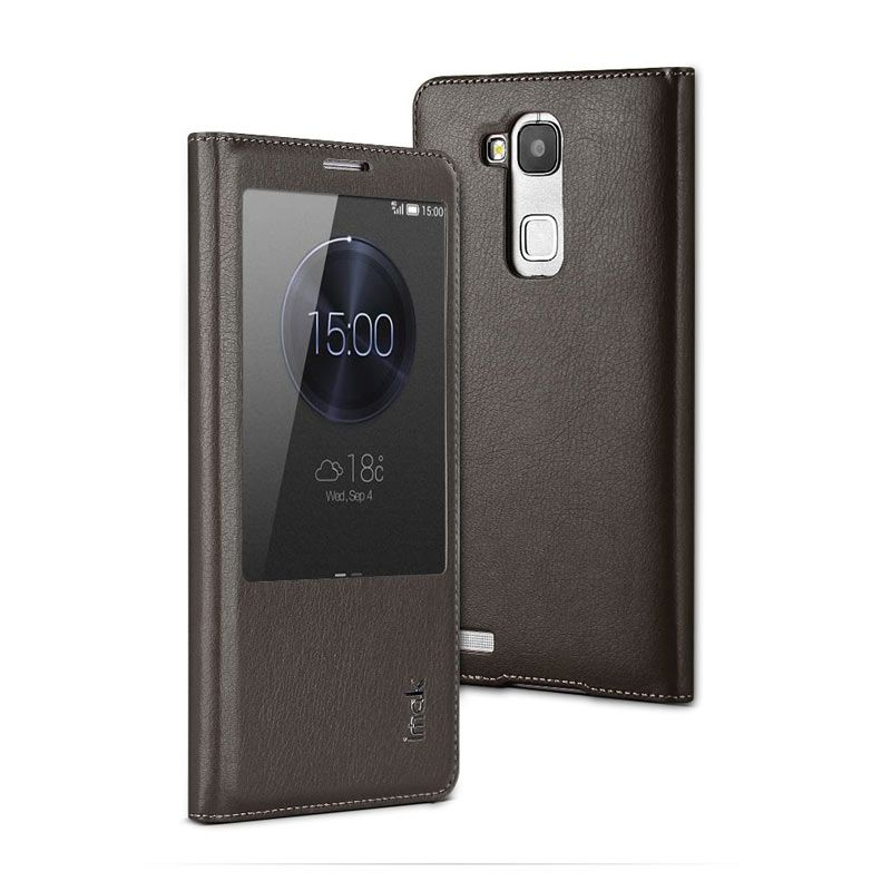 Imak Leather Grey Casing for Huawei Ascend Mate 7