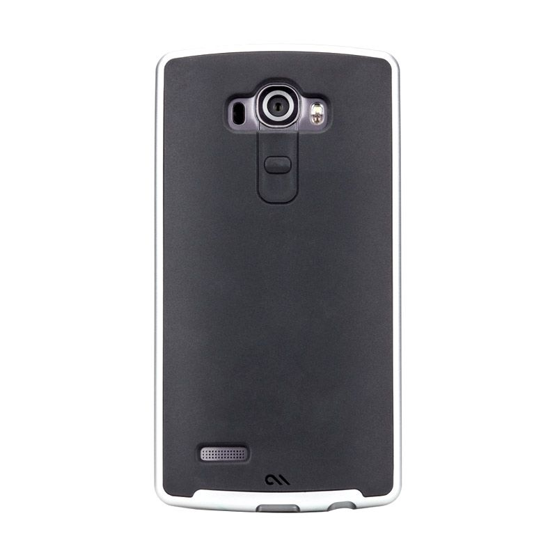 Casemate Slim Tough Hitam Silver Casing for LG G4