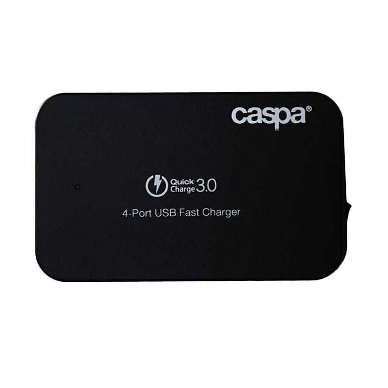 Caspa Black Multi Charger [4 Port/3.0]