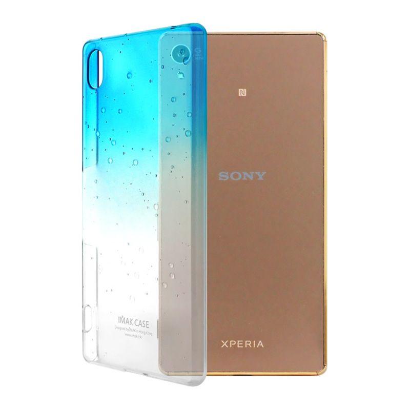 Imak Rain Blue Clear Hardcase Casing for Xperia Z3+