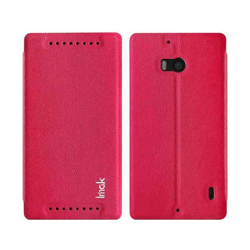 Imak Lumia 930 Leather Case Merah
