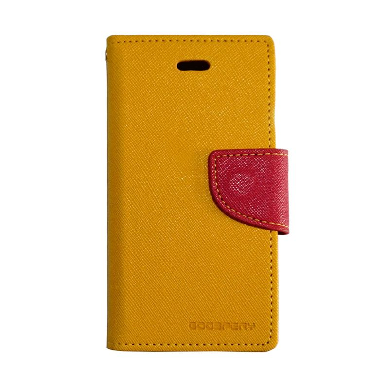 Mercury Fancy Diary Yellow Red Casing for iPhone 5
