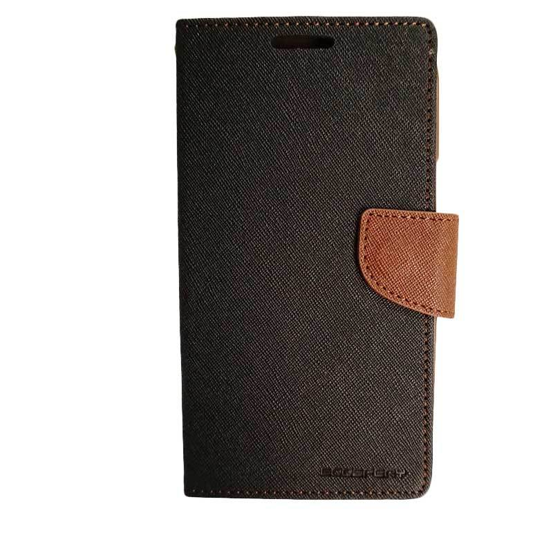 Mercury Fancy Diary Black Brown Casing for Galaxy Note 2