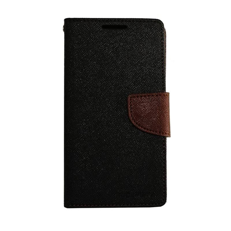 Mercury Fancy Diary Black Brown Casing for Galaxy S4