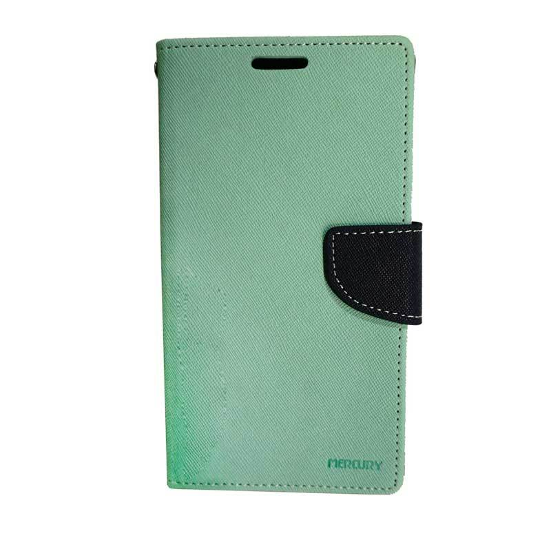 Mercury Fancy Diary Green Navy Casing for Galaxy Note 2