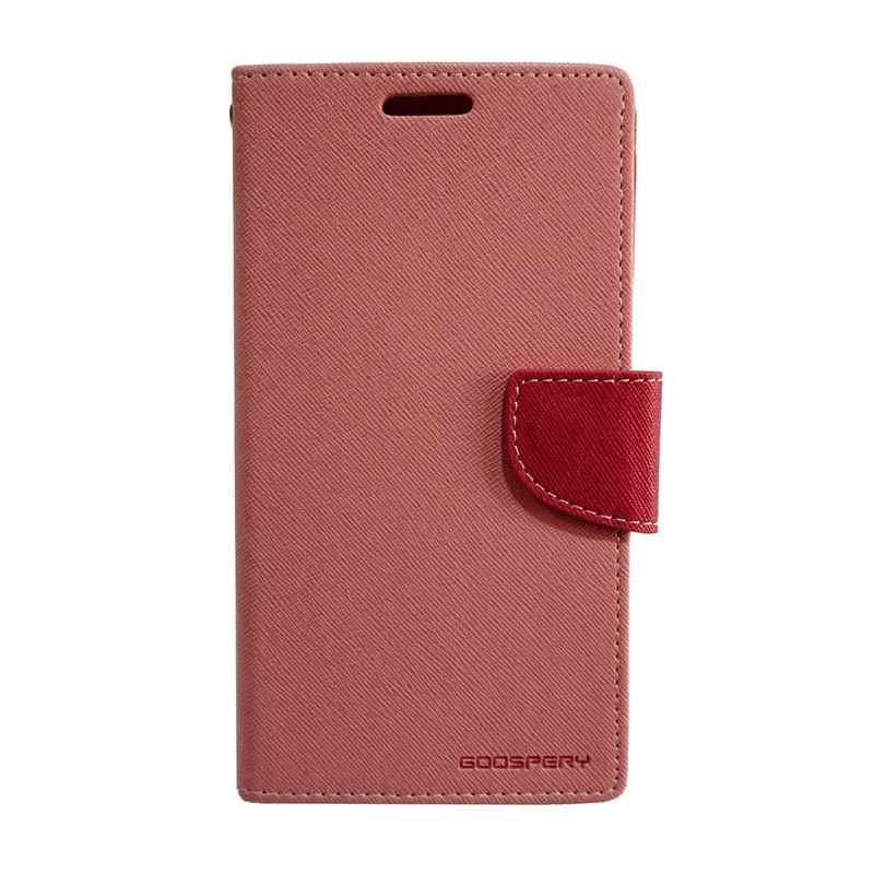 Mercury Fancy Diary Pink Red Casing for Galaxy Note 2