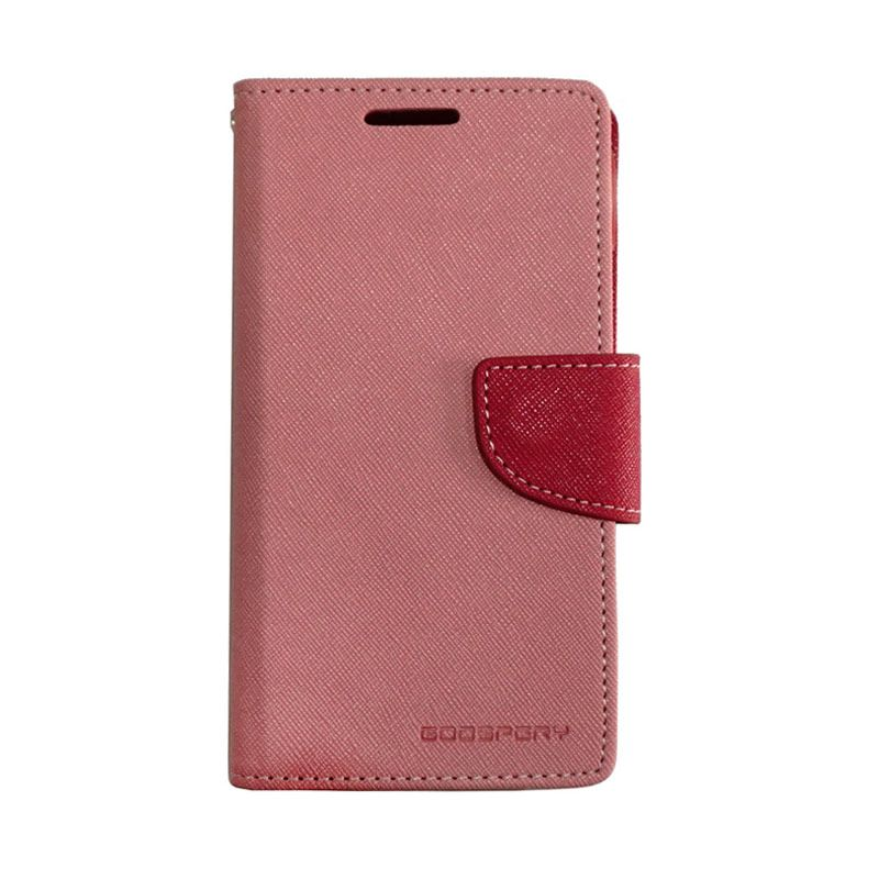 Mercury Fancy Diary Pink Red Casing for Galaxy S4