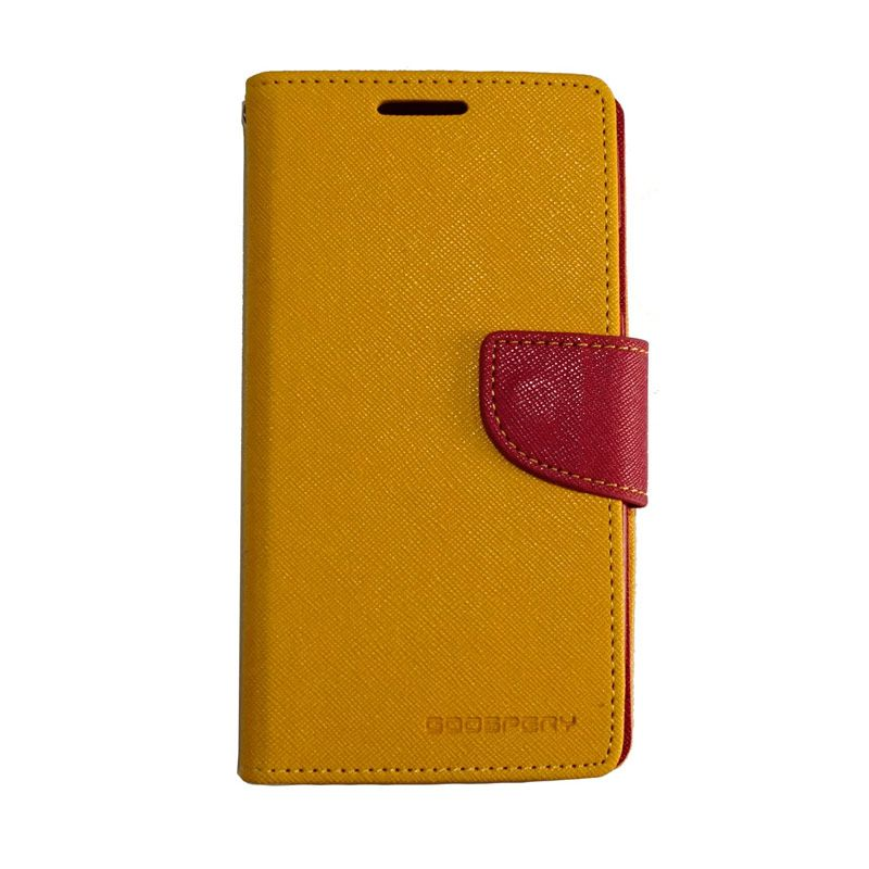 Mercury Fancy Diary Yellow Red Casing for Galaxy S4