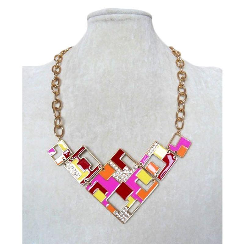 Trinket Box Colour Sculp Necklace